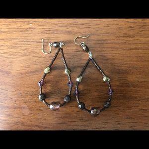 Brown dangling earrings